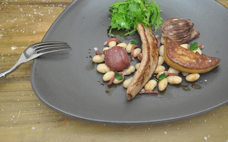Salade tiède de haricots coco de canard Ernest Soulard