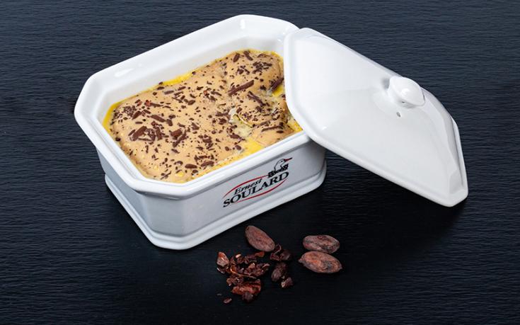 Foie gras de canard mi-cuit aux fèves de cacao