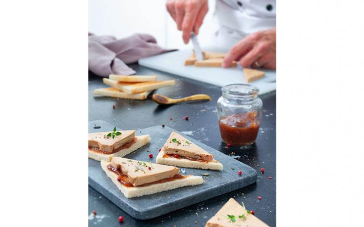 Toasts de foie gras entier mi-cuit