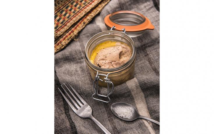 Foie gras de canard en conserve à la fleur de sel