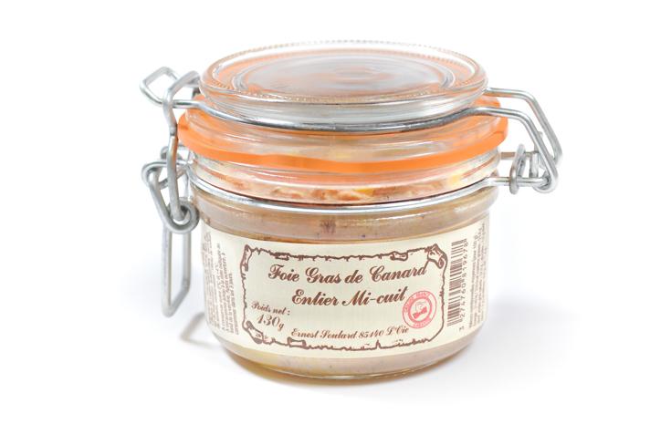 Foie gras de canard entier mi-cuit à déguster