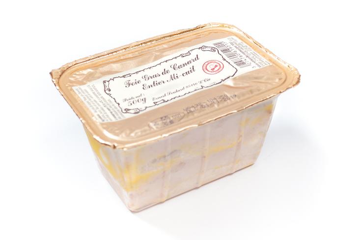 Foie gras de canard entier mi-cuit