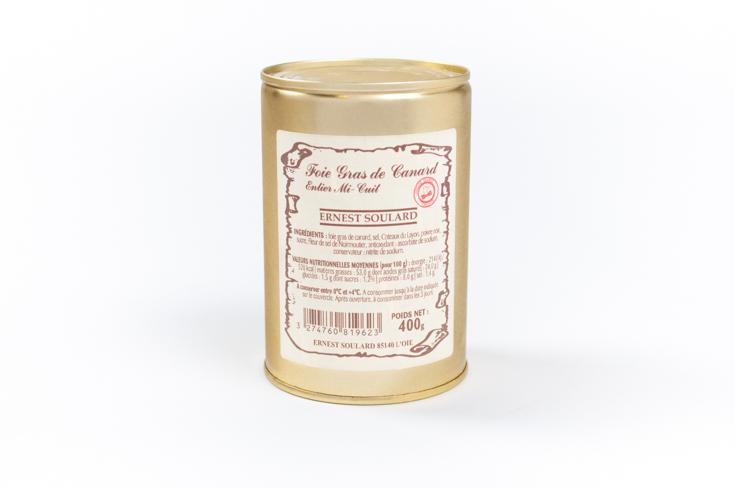 Foie gras de canard entier mi-cuit Ernest Soulard