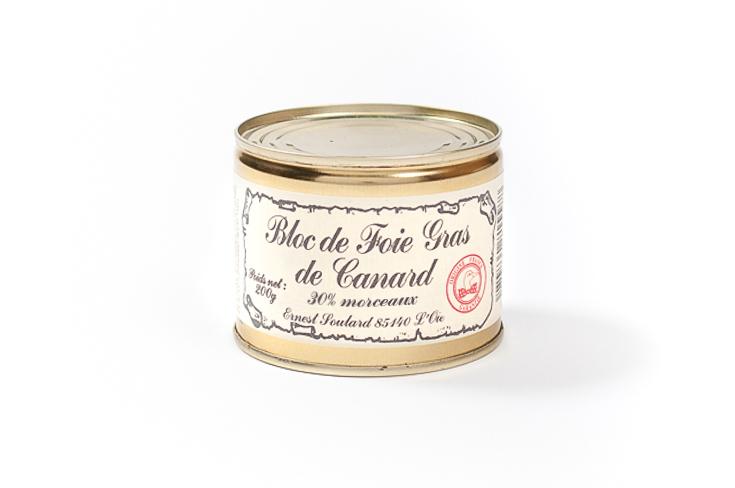 Bloc de foie gras de canard 30% morceaux