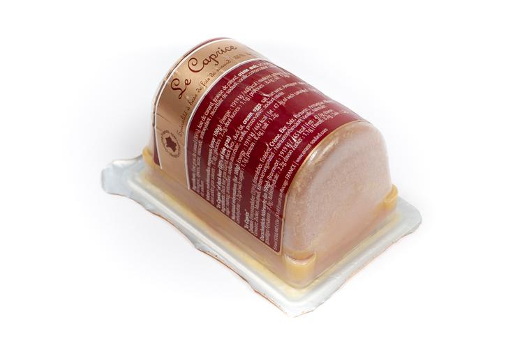 Caprice de foie de canard mi-cuit