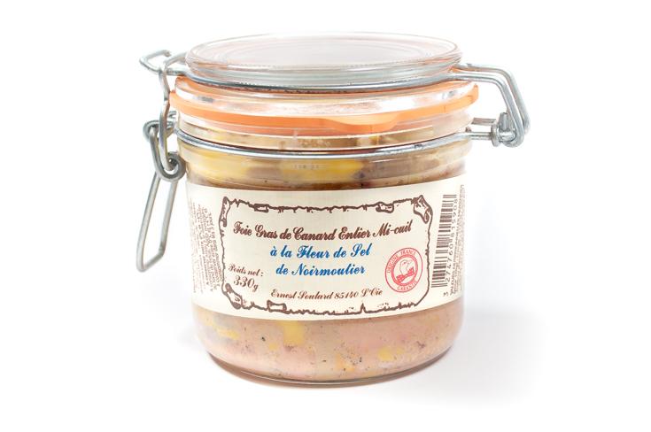 Foie gras de canard entier mi-cuit à la fleur de sel de Noirmoutier Ernest Soulard