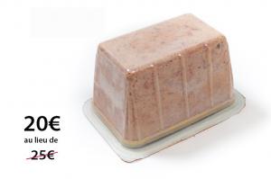 Confit au bloc de foie gras de canard mi-cuit