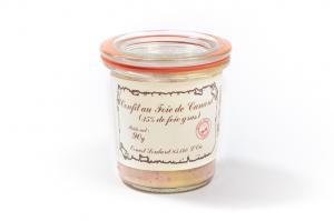 Confit au bloc de foie gras de canard