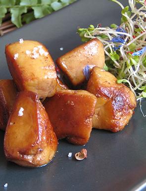 Wok de foie gras de canard surgelé
