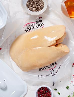 Foie gras de canard cru déveiné frais