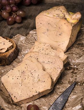 Bloc de foie gras de canard sans morceaux mi-cuit